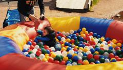 Pool with plastic balls. Nature Stock Footage
