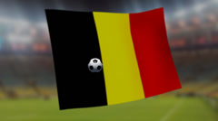 Soccer world cup 2014 - Belgium flag - background video Stock Footage