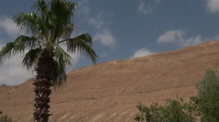 Sky with clouds on a background the mountains of the Judaic desert Stock Footage