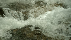 Closeup river and stones Stock Footage