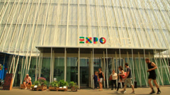 Stock Video Footage of Expo Gate, Piazza Cairoli, Milan