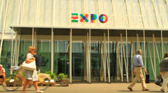 Expo Gate, Piazza Cairoli, Milan Stock Footage