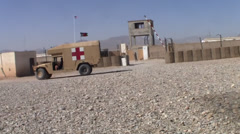 Military Ambulance and Medical Evacuation in WAR - stock footage