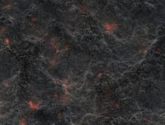 Stock Illustration of eruption volcano. solidified lava texture