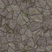 Stock Illustration of landscape design from stones in grass. wallpapers pattern