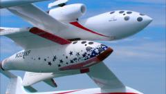 SpaceShipOne Air to Air Banking Stock Footage
