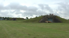 Gun casements in the Merville Battery, Lower Normandy, France. Stock Footage