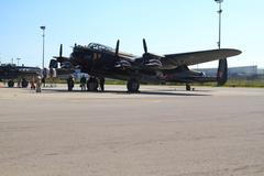 One of only two flying in the world lancaster and crew Stock Photos