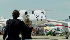 SpaceShipOne Taxi Stock Footage