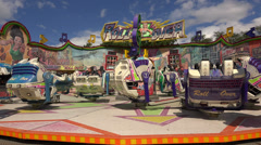Extreme attraction. Carousel. 4K. Stock Footage
