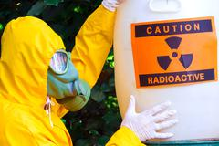 Disposal of radio active waste - stock photo