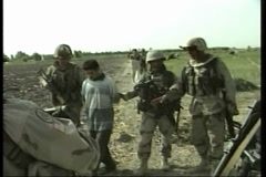 Insurgent Arrested in WAR in Afghanistan - stock footage