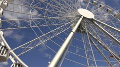 Ferris wheel. 4K. - stock footage