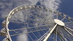 Stock Video Footage of Ferris wheel. 4K.