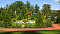 View, park, attractions. 4K. Stock Footage