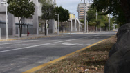 Deserted empty city town street metro area 2 Stock Footage