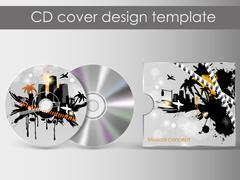 Cd cover presentation design template Stock Illustration