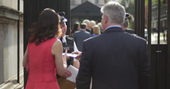 Checking ID at Downing St 4K Stock Footage