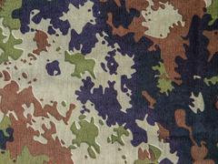 Military camouflage fabric Stock Photos