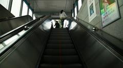 An escalator in chengdu china Stock Footage
