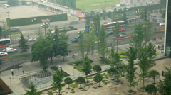 The pollution and traffic in chengdu china Stock Footage