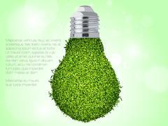Green energy icon. Stock Illustration