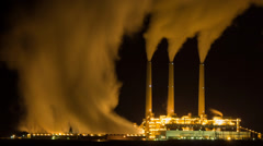 Power Generating Station Time Lapse Stock Footage