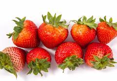 appetizing strawberry. isolated on a white background. - stock photo