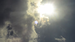 Sunbeams with moving clouds scenery Time lapse 1080p - stock footage