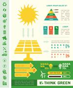 Ecology Infographic Template. - stock illustration