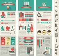 Education Infographics. - stock illustration