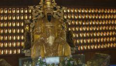 Gold Buddha - China Stock Footage
