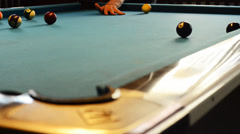 Billiard play Time lapse 1080p Stock Footage