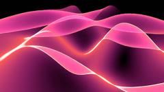 4k Abstract pink light curve,satin ribbon&soft silk veils,flowing digital wave - stock footage