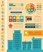 Stock Illustration of Real Estate Infographics.