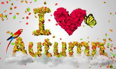 I love Autumn Stock Illustration