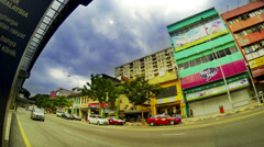 ULTRA HD 4K (3840 x2160)  Kuala Lumpur street view time lapse Stock Footage