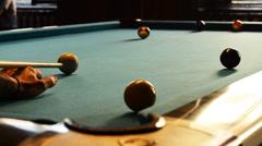 Man play billiard win point 1080p Stock Footage