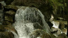 Tiny waterfall and stones Stock Footage