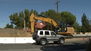Stock Video Footage of street construction bulldozer digging