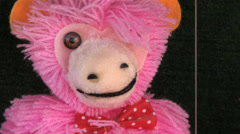 720p Marionette Pink Bear Dancing - stock footage