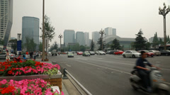 Busy and polluted traffic in chengdu china time lapse Stock Footage