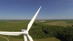 Aerial windmill shot 3 Stock Footage