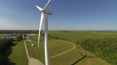 Aerial windmill shot 4 Stock Footage
