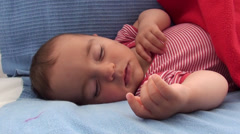 Baby sees a dream Stock Footage