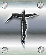 Letter cut out in metal Stock Illustration