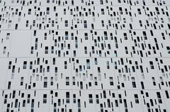 aluminum cladding second skin of building - stock photo