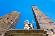 Stock Photo of Asinelli Tower, Bologna, Italy.