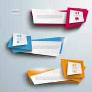 vector banners side 3 options - stock illustration