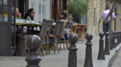 France, Paris, typical street and cafe on Cite island. - stock footage